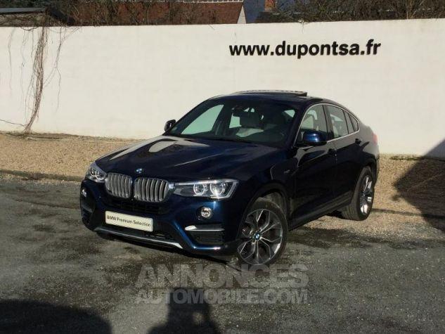 BMW X4 xDrive35dA 313ch xLine Tiefseeblau metallise Occasion - 0
