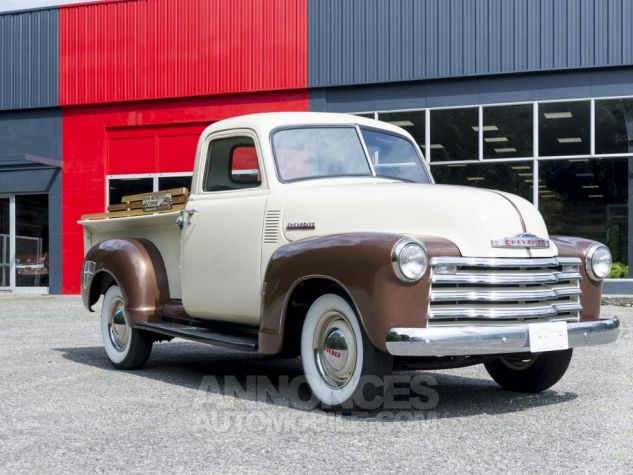 Chevrolet 3100 pick-up Blanc/ Brun Occasion - 1