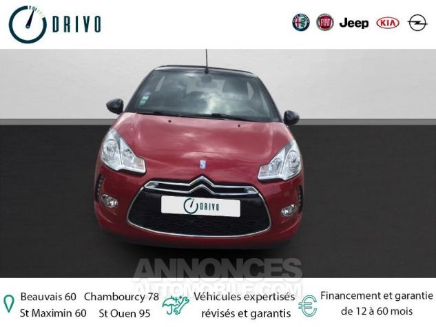 Citroen DS3 1.6 VTi So Chic 6cv Bordeaux Occasion - 2