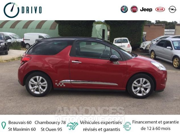 Citroen DS3 1.6 VTi So Chic 6cv Bordeaux Occasion - 4