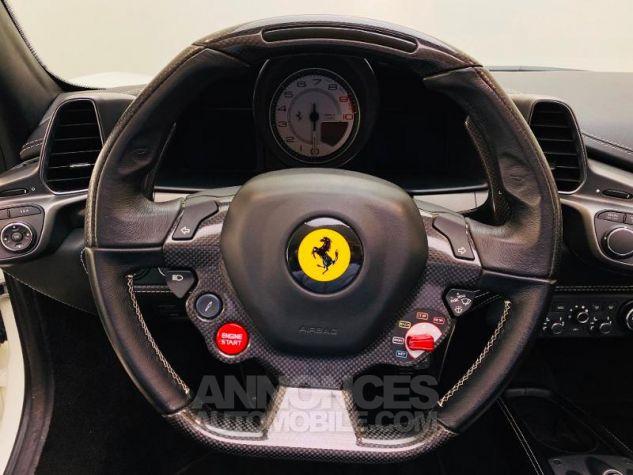 Ferrari 458 Italia V8 4.5 Spider Blanc Bianco Avus Occasion - 6