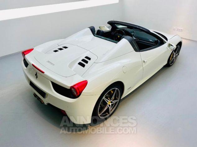 Ferrari 458 Italia V8 4.5 Spider Blanc Bianco Avus Occasion - 16