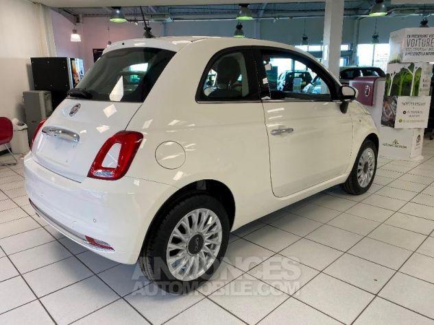Fiat 500 1.2 8v 69ch Eco Pack Lounge 109g Bossa Nova White Occasion - 1