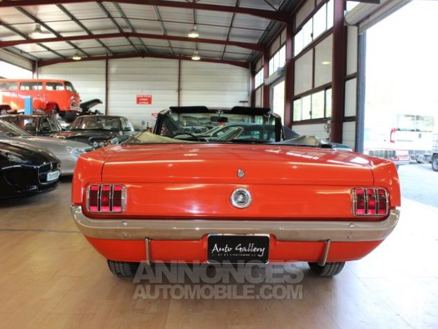 Ford Mustang 289 CI CABRIOLET BVA POPPY RED Occasion - 12