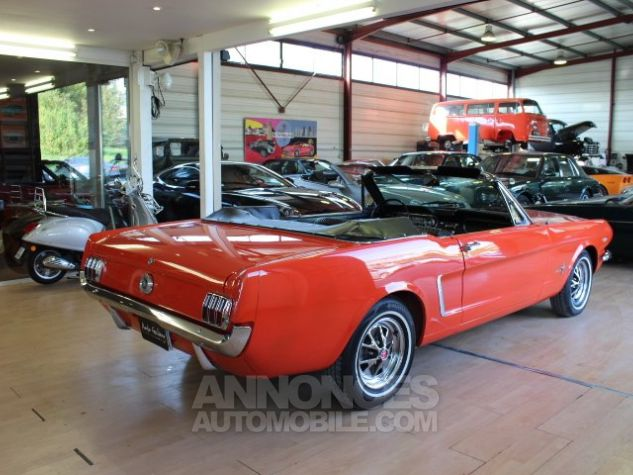 Ford Mustang 289 CI CABRIOLET BVA POPPY RED Occasion - 13