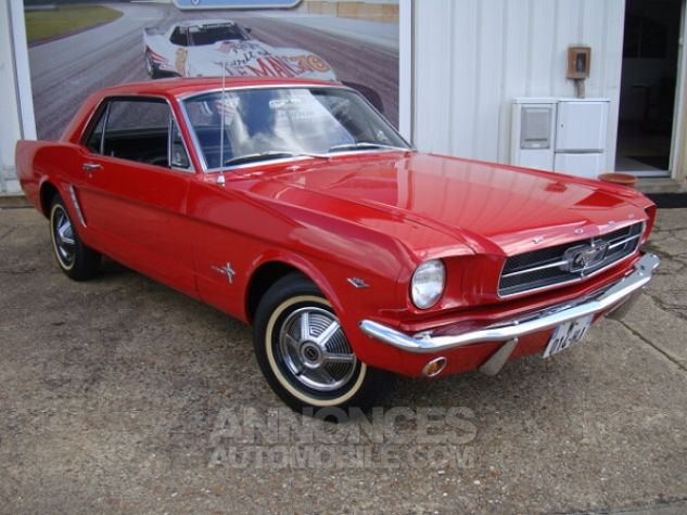 Ford Mustang coupe 1965 Rouge Occasion - 14