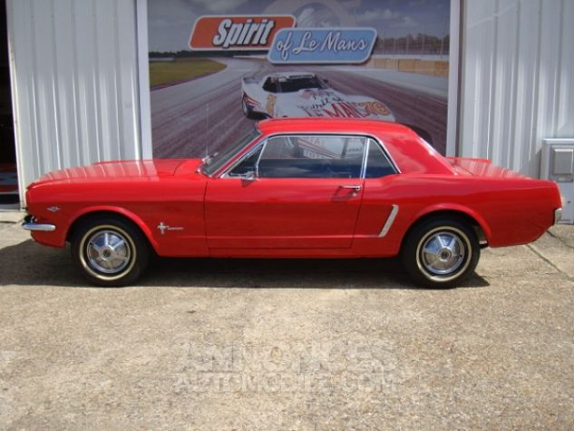 Ford Mustang coupe 1965 Rouge Occasion - 17