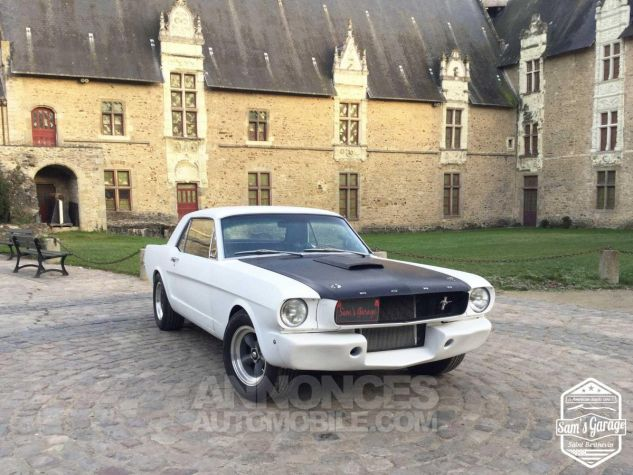 Ford Mustang Coupé V8 Code A 289 HOT ROD Blanc Mat Occasion - 1