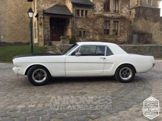 Ford Mustang Coupé V8 Code A 289 HOT ROD Blanc Mat Occasion - 2