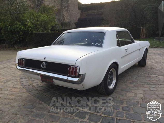 Ford Mustang Coupé V8 Code A 289 HOT ROD Blanc Mat Occasion - 4