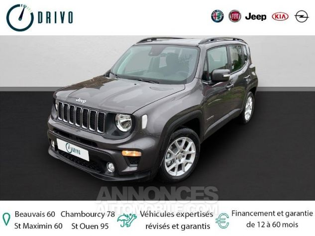 Jeep Renegade 1.3 GSE T4 150ch Longitude Business BVR6 Gris Occasion - 0