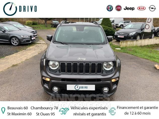 Jeep Renegade 1.3 GSE T4 150ch Longitude Business BVR6 Gris Occasion - 19
