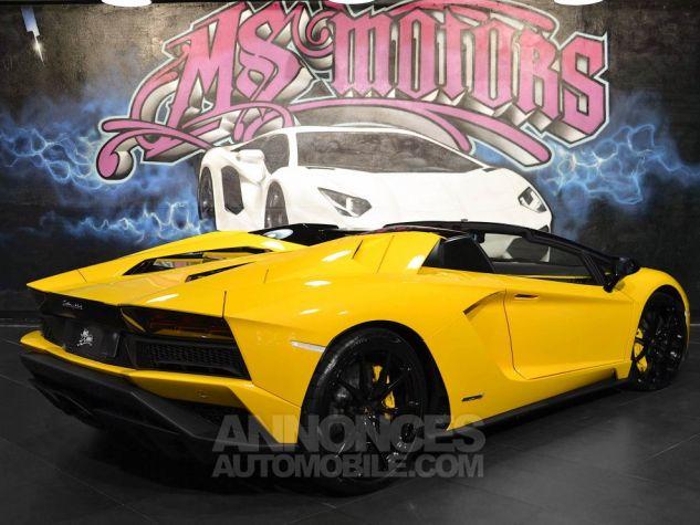 Lamborghini Aventador S Roadster V12 LP 740-4 JAUNE METAL Occasion - 5