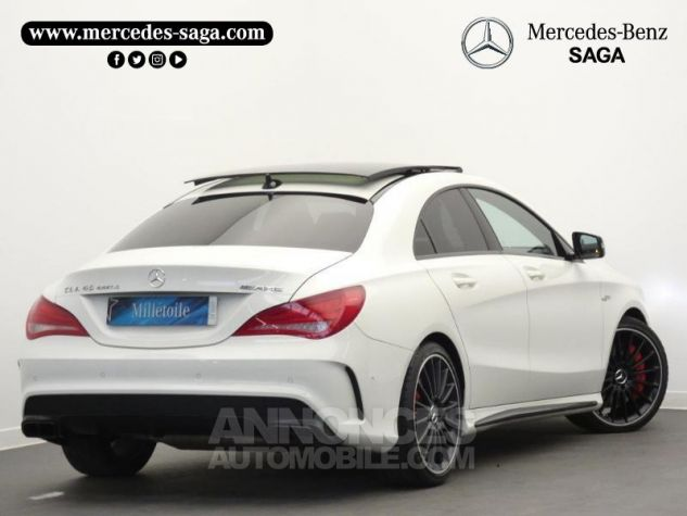 Mercedes CLA 45 AMG 4Matic Speedshift DCT Blanc Cirrus Occasion - 1