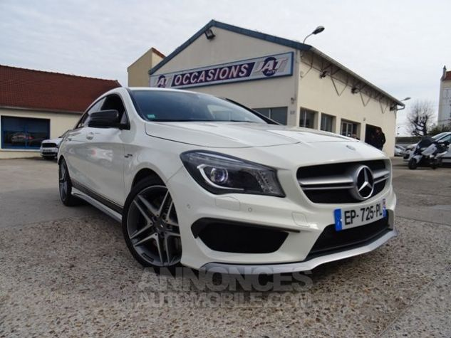 Mercedes CLA C117 45 AMG 381CH 4MATIC SPEEDSHIFT DCT BLANC Occasion - 0