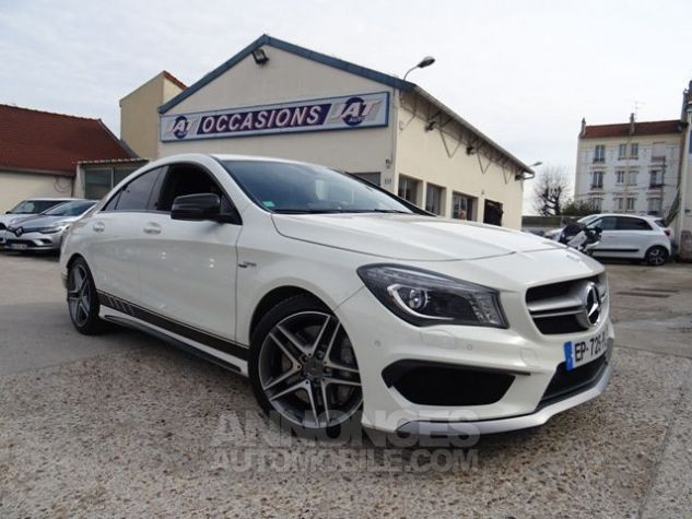 Mercedes CLA C117 45 AMG 381CH 4MATIC SPEEDSHIFT DCT BLANC Occasion - 1
