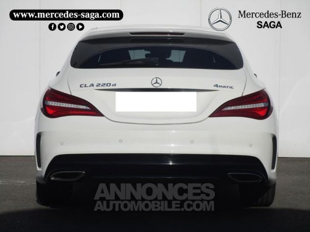 Mercedes CLA Shooting Brake 220 d Fascination 4Matic 7G-DCT Blanc Cirrus Occasion - 4