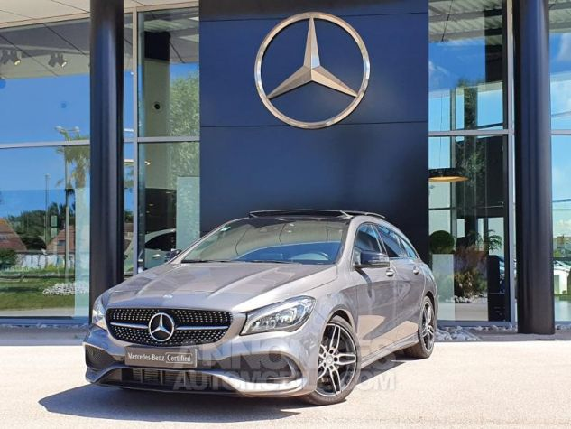 Mercedes CLA Shooting Brake 220 d Fascination 7G-DCT Gris Montagne Métallisé Occasion - 0