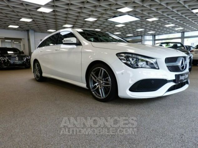 Mercedes CLA Shooting Brake 220d Pack AMG Blanc Occasion - 1