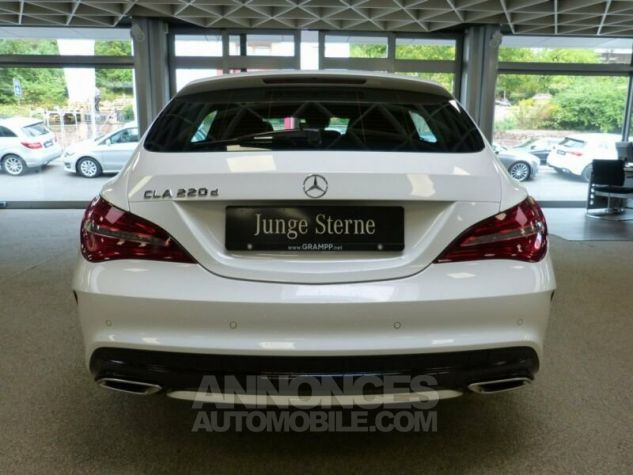 Mercedes CLA Shooting Brake 220d Pack AMG Blanc Occasion - 3