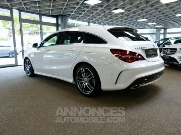 Mercedes CLA Shooting Brake 220d Pack AMG Blanc Occasion - 4