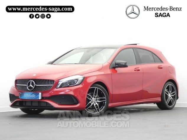 Mercedes Classe A 180 d Fascination 7G-DCT Rouge Jupiter Occasion - 0