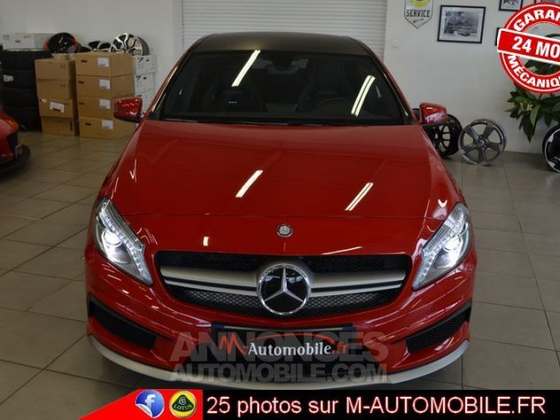 mercedes classe a 45 amg 4matic dct rouge occasion. Black Bedroom Furniture Sets. Home Design Ideas