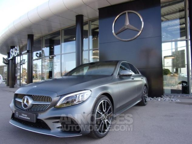 Mercedes Classe C 220 d 194ch AMG Line 9G-Tronic GRIS SELENITE Occasion - 0