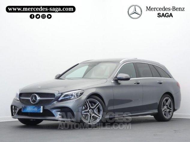 Mercedes Classe C 220 d 194ch AMG Line 9G-Tronic Gris sélénite métallisé Occasion - 0