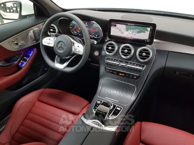 Mercedes Classe C 220 d 194ch AMG Line 9G-Tronic Euro6d-T Blanc diamant designo brillant Occasion - 16