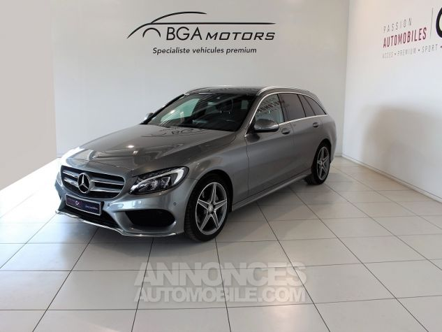 Mercedes Classe C BREAK (S205) 220 BLUETEC SPORTLINE 7G-TRONIC PLUS Gris Occasion - 0