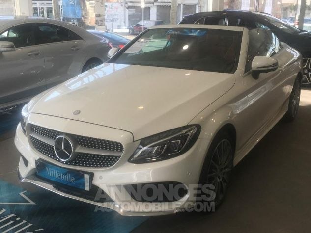 Mercedes Classe C Cabriolet 220 d 170ch Sportline 9G-Tronic BLANC DIAMANT Occasion - 1