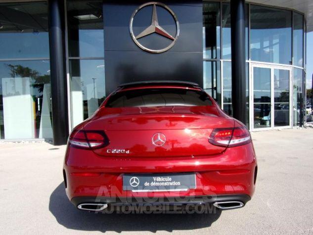 Mercedes Classe C Coupe Sport 220 d 194ch AMG Line 9G-Tronic Euro6d-T Rouge jacinthe designo métalli Occasion - 15