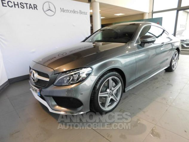 Mercedes Classe C Coupe Sport 250 d 204ch Fascination 9G-Tronic GRIS SELENITE Occasion - 0