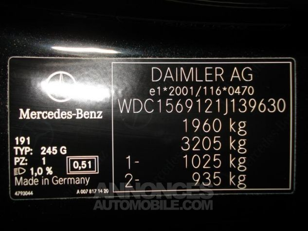 Mercedes Classe GLA 180 CDI Inspiration noir cosmos metal Occasion - 14