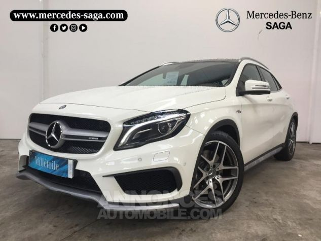 Mercedes Classe GLA 45 AMG 4Matic Speedshift DCT BLANC CIRRUS Occasion - 0