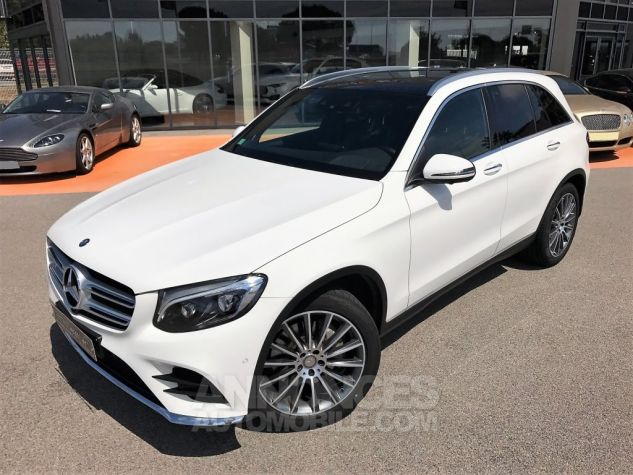 Mercedes GLC 250D 204CH 4MATIC FASCINATION 9G-TRONIC Blanc Verni Occasion - 1