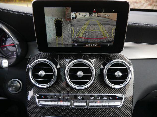 Mercedes GLC 63 S AMG 4MATIC, Toit pano, Distronic, Affichage tête haute, 360°, Sièges Performance, designo, Carbone, Attelage Noir Obsidienne métallisé Occasion - 18