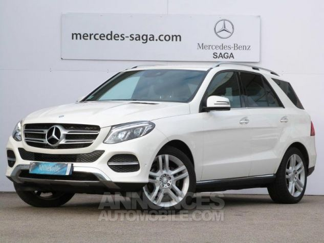 Mercedes GLE 350 d 258ch Fascination 4Matic 9G-Tronic BLANC DIAMANT Occasion - 0
