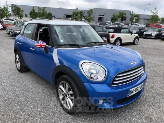 mini countryman cooper d 112ch pack chili bleu metal. Black Bedroom Furniture Sets. Home Design Ideas