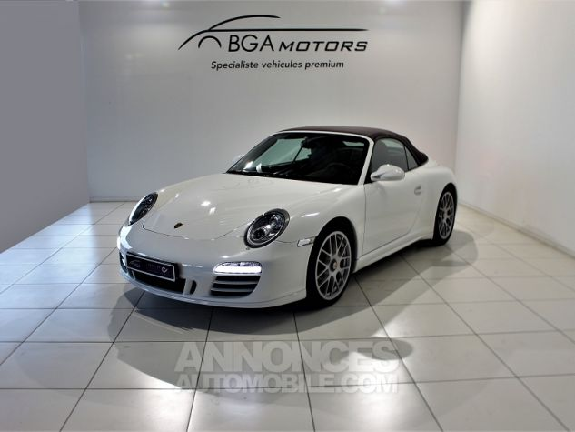 Porsche 911 CABRIOLET (997) CARRERA 4 GTS PDK Blanc Occasion - 1