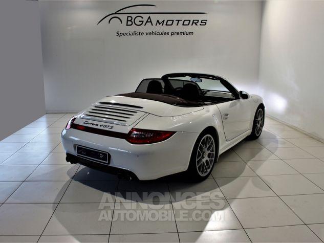 Porsche 911 CABRIOLET (997) CARRERA 4 GTS PDK Blanc Occasion - 3