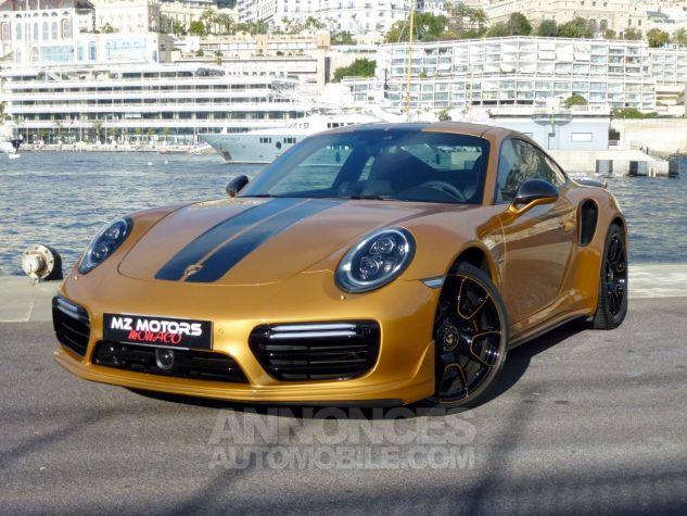 Porsche 911 TYPE 991 TURBO S EXCLUSIVE SERIES Or Jaune métallisé Occasion - 1