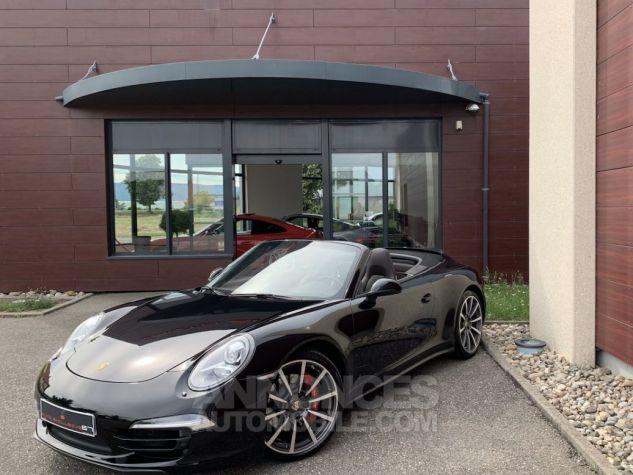 Porsche 991 911 type 991 CARRERA 4S CABRIOLET BVM7 FULL Noir métallisé Occasion - 1