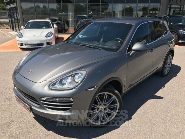 Porsche Cayenne II Diésel 245 Gris Méteor métal Occasion - 1