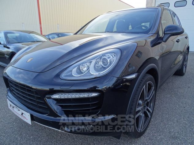 Porsche Cayenne II Turbo 4,8L V8 500CH / FULL OPTIONS noir métallisé Occasion - 1