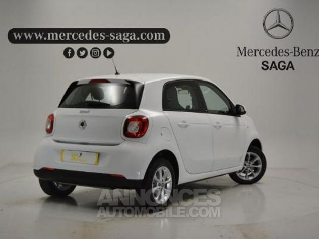 Smart FORFOUR 71ch passion Blanc Occasion - 1