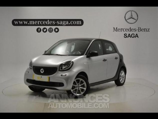 Smart FORFOUR 71ch pure Gris Clair Metal Occasion - 0