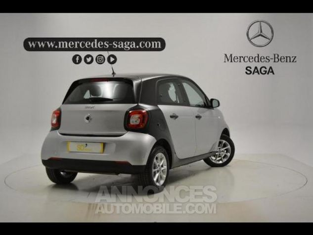 Smart FORFOUR 71ch pure Gris Clair Metal Occasion - 1