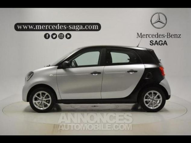 Smart FORFOUR 71ch pure Gris Clair Metal Occasion - 4